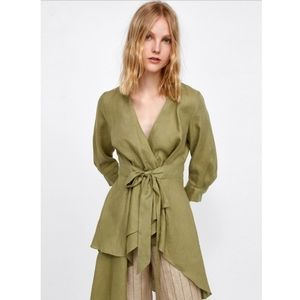 Zara Asymmetric  Tunic with Bow
